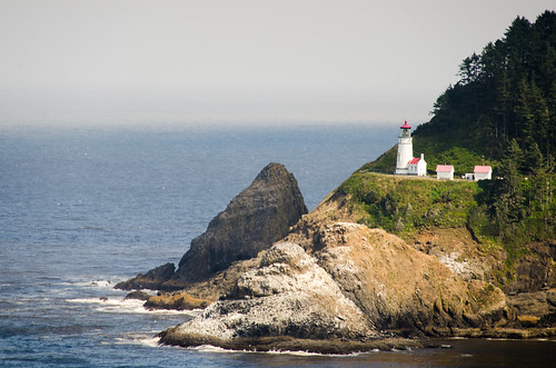 Heceta Head Lighthouse from Sea Lion Cave