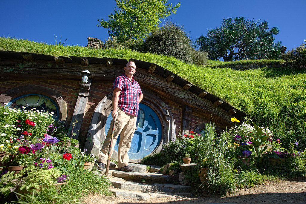 If your group isn't large, there are a few props and locations to play up your own Hobbiton character.