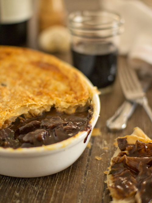 beef and shiraz pie