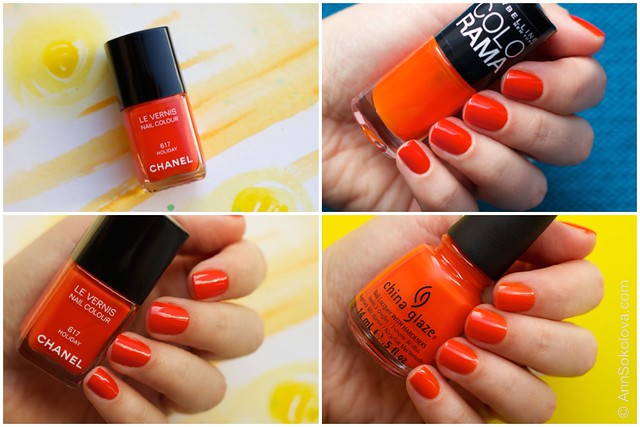 Maybelline Colorama #155, China Glaze Style Wars, Chanel #617 Holiday