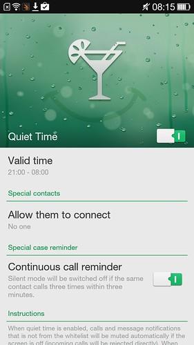 Quiet Time ของ Oppo N1 Mini