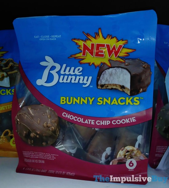 Blue Bunny Chocolate Chip Cookie Bunny Snacks