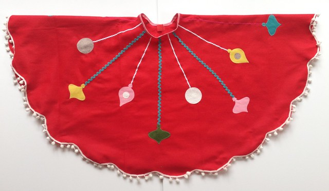 Vintage ornaments skirt
