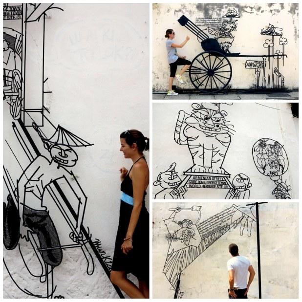 Arte callejero Penang George Town
