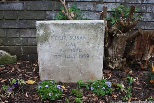 Headstone in the pet cemetery, Hornfair Park