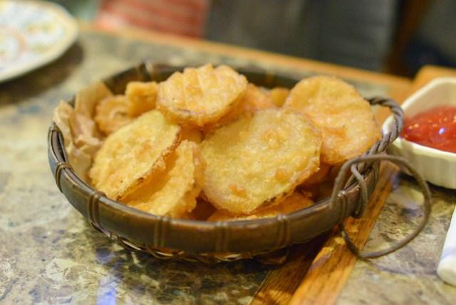 battered potato chips