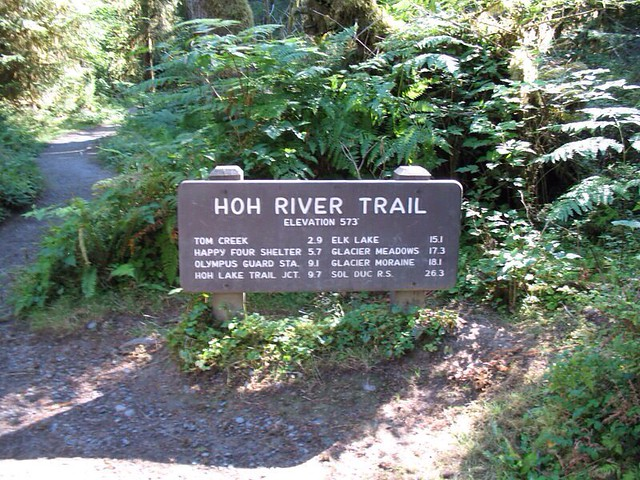 Hoh River Trail Sign