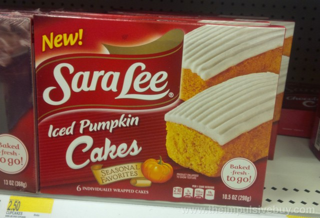 Sara Lee Seasonal Favorites Iced Pumpkin Cakes