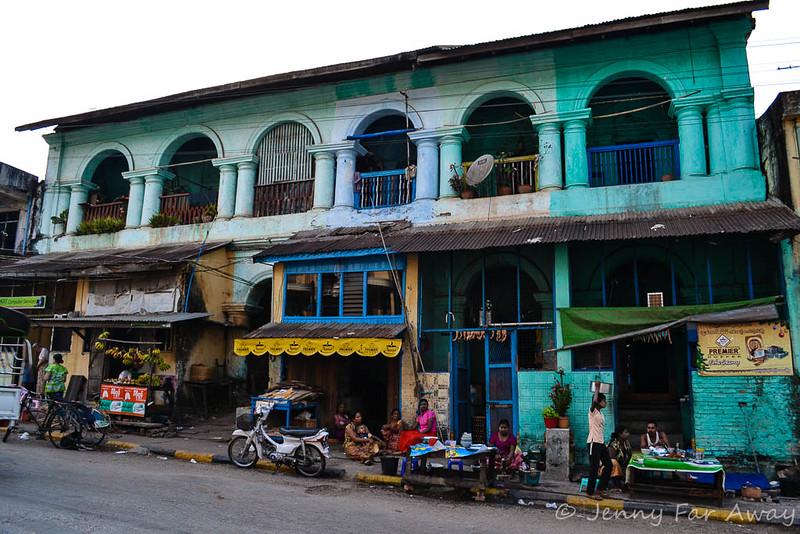 Street in Mawlamyine, Burma