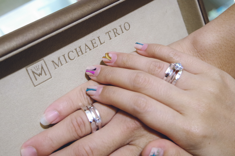 Choosing Our Wedding Bands At Michael Trio Yina Goes