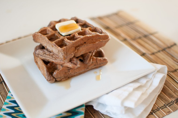 Whole Wheat Chocolate Banana Waffles 3