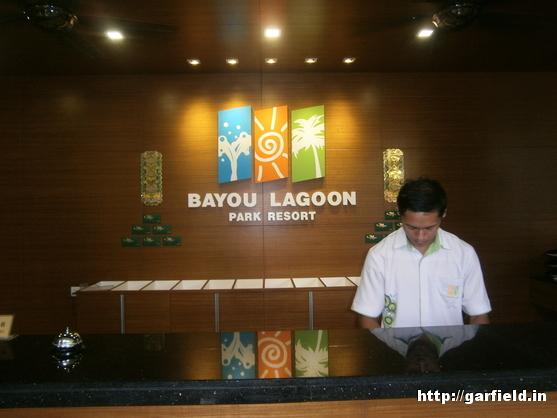 Bayou Lagoon park Resort Reception