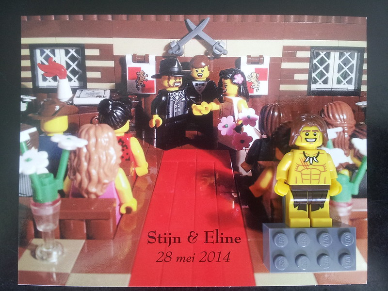 LEGO Minifigure Wedding Favors For Fun And Entertainment