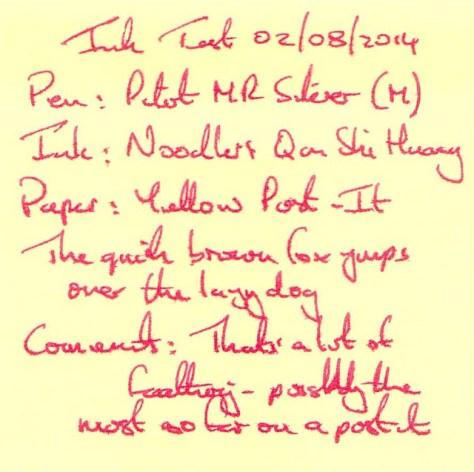 Noodler's Qin Shi Huang - Ink Review -Post It