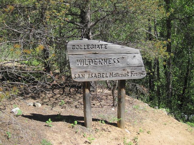 Collegiate Peaks Wilderness Sign