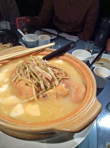 豊華小館鶏肉のタケノコ入りスープ