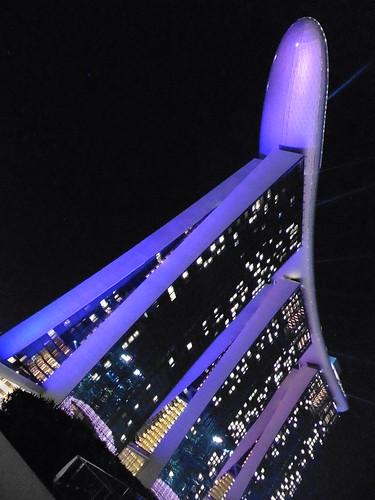 Mirador gratis, situado en The Shoppes at Marina Bay Sands, en Singapur