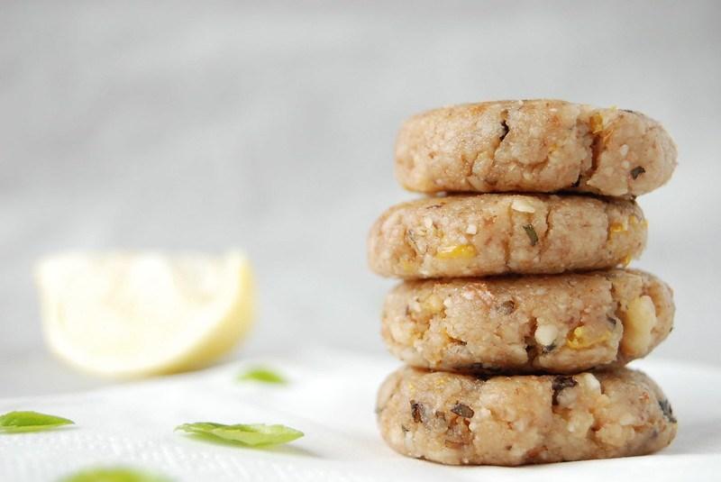 Basil Lemon Walnut Cookies