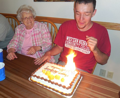 Grandma and Brandon on his 22nd