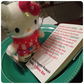 Astronaut Hello Kitty is a huge Joanna Russ fan. Huge.