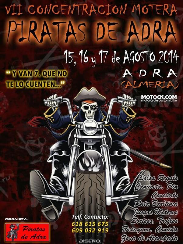 VII Concentración Motera Piratas de Adra