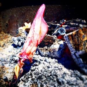 Espeto de calamar