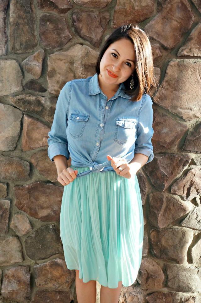 How to wear a dress as a skirt 4