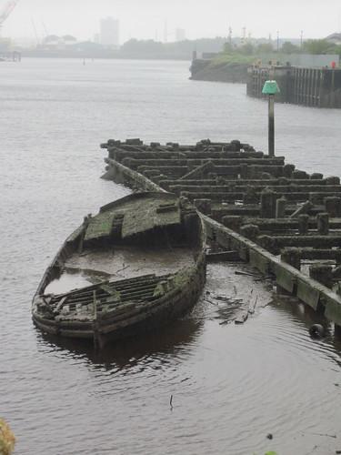 Sunken Boat, River Tees