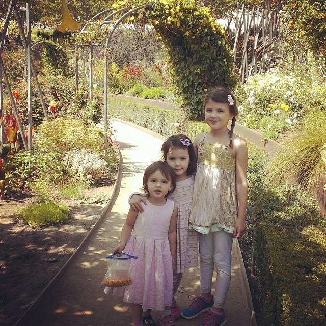 Beautiful day today at the #gettycenter. The girls loved the gardens.  #homeschool #magicalchildhood