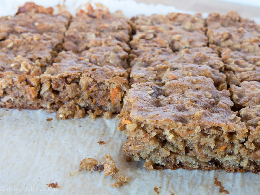 Carrot Cake Breakfast Bars | infinebalance.com #breakfast #recipe