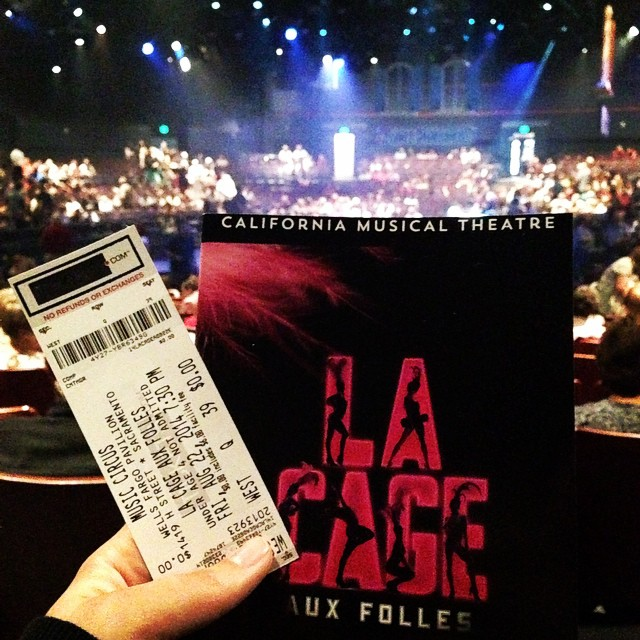 Enjoying the last show of the 2014 Music Circus season - La Cage Aux Folles! #sacmusicals #lovemusicals