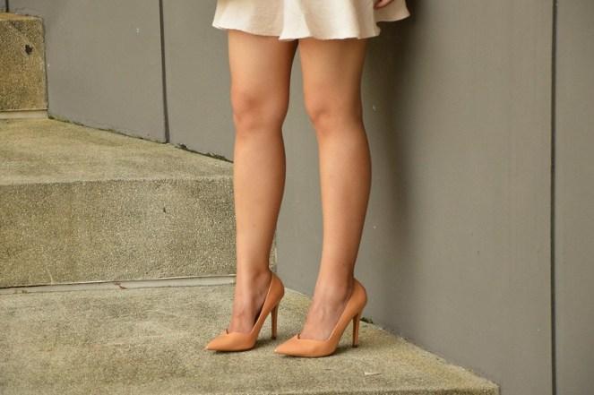 Zara nude vamp heels pumps