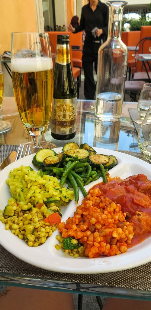 Il Margutta Ristorarte - a vegetarian restaurant with many delicious vegan options; not to mention, walking distance from my hotel!