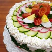 Smörgåstårta - A savory sandwich cake