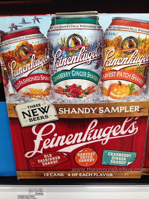 Leinenkugel's Old Fashioned Shandy, Harvest Patch Shandy, and Cranberry Ginger Shandy