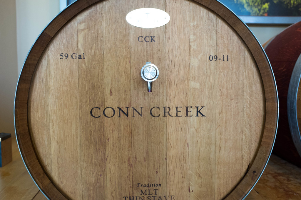Each AVA has a barrell, and 15 of the 16 barrells are included in the current release of Conn Creek's flagship wine, Alchemy
