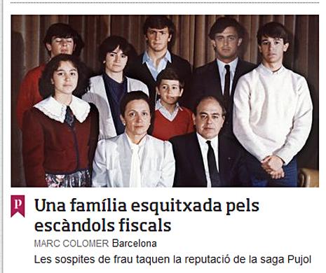 14g26 ARA Portada escándalo Jordi Pujol Uti 465