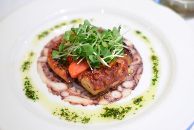 Grilled Octopus pickled vegetables and limoncello