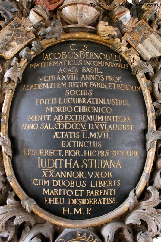 BASEL - Basler Münster - Grab von Jakob I. Bernoulli