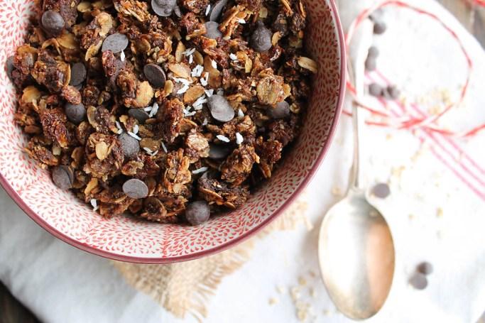 Recette granola chocolat