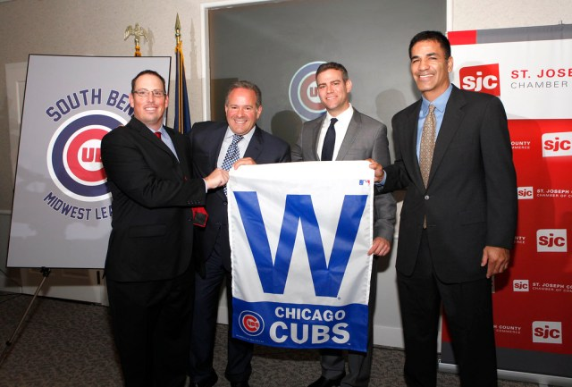 Epstein, Berlin, Hart, McLeod - South Bend Cubs Press Conference