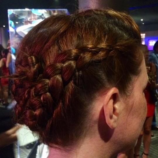 side of concert hair