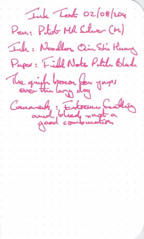 Noodler's Qin Shi Huang - Ink Review -Field Notes