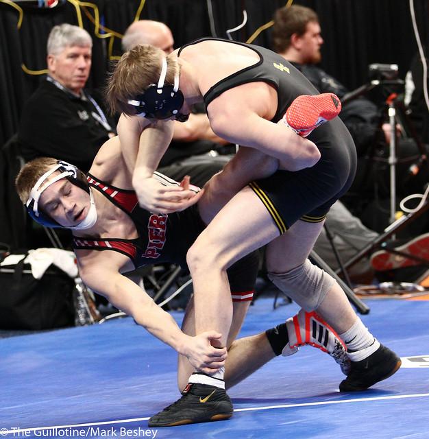 132A - Semifinal - Tanner Pasvogel (Sibley East) 40-2 won by decision over Brandon Ortman (Pierz) 26-5 (Dec 5-2)