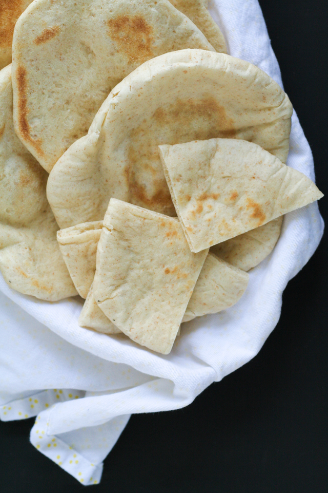 homemade pita bread recipe [ inthiskitchen.com ]