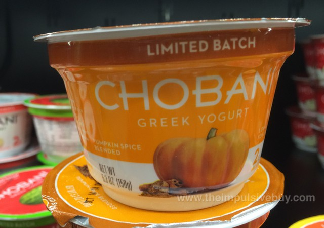 Chobani Limited Batch Pumpkin Spice Greek Yogurt
