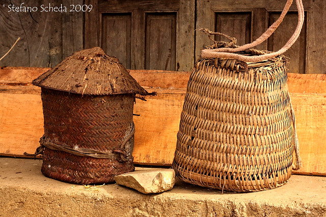 Wicker baskets - Cao Bang, Vietnam