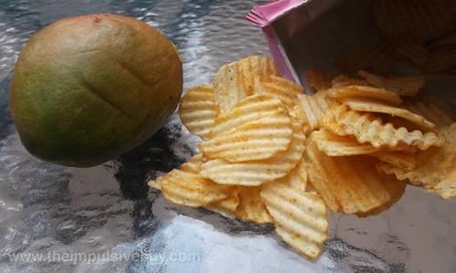Lay's Wavy Mango Salsa Potato Chips with Mango