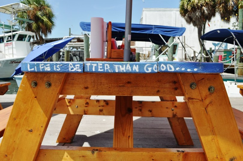 """Life is Better than Good..."" Star Fish Company Market & Restaurant, Cortez, Fla., Aug. 30, 2014"