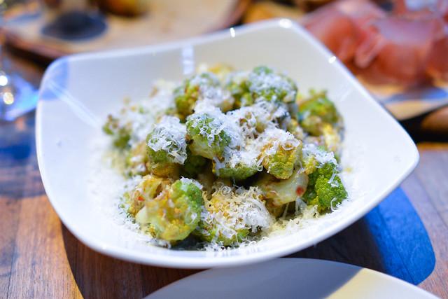 broccoflower lemon, chili flakes, parmesan